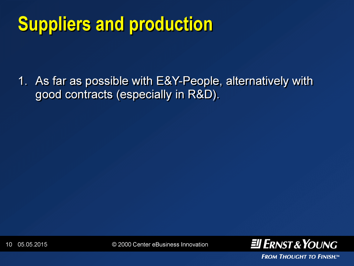 Suppliers and Production