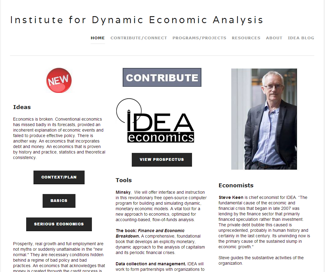 Institute for Dynamic Economic Analysis