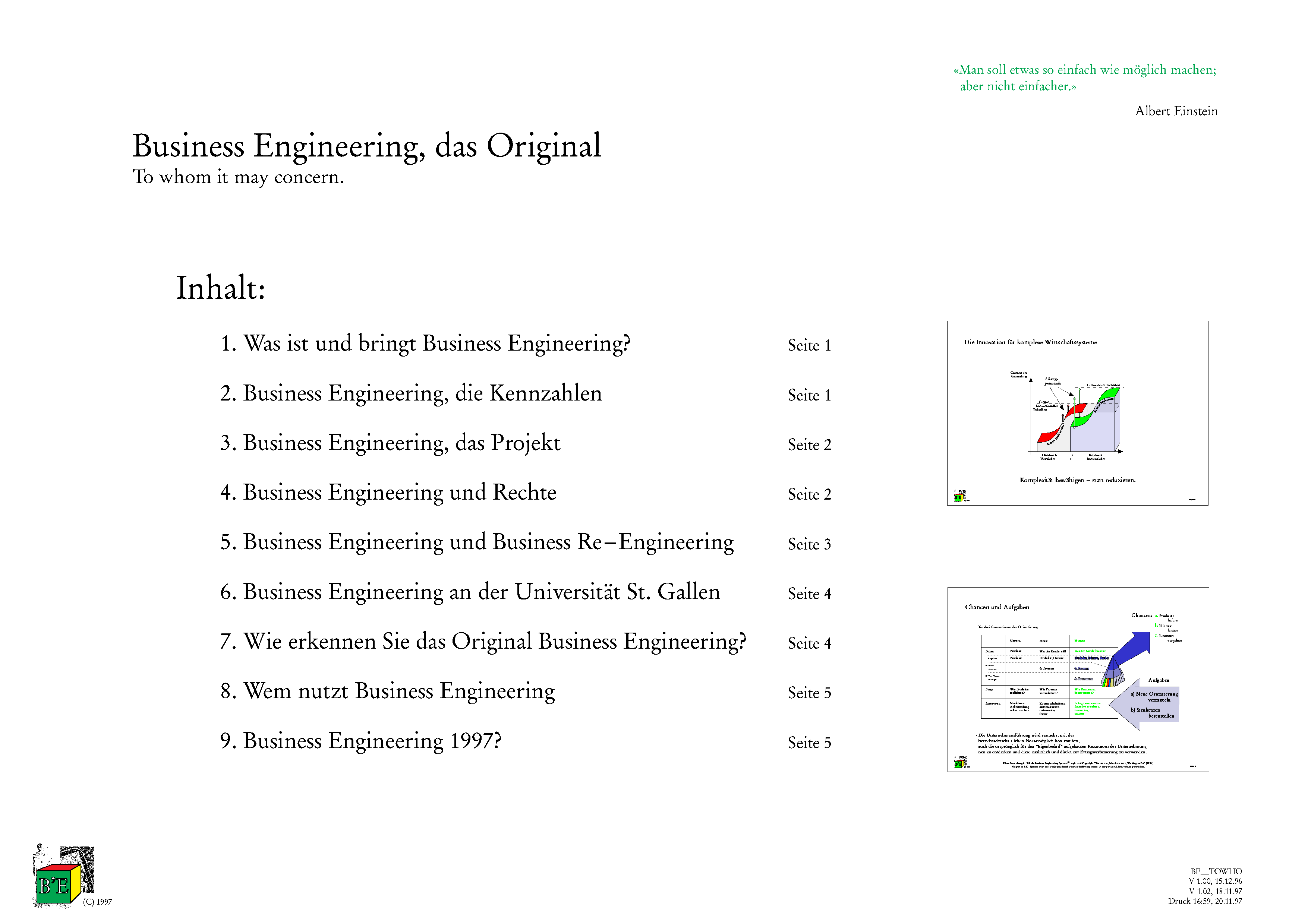 Business Engineering - Das Original